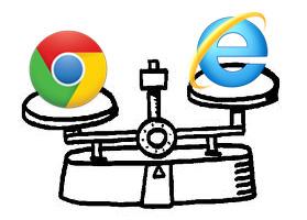 Google Chrome större än Internet Explorer