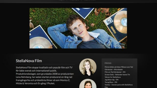 StellaNova Film - Web Design - Webbyrå - EAD.se