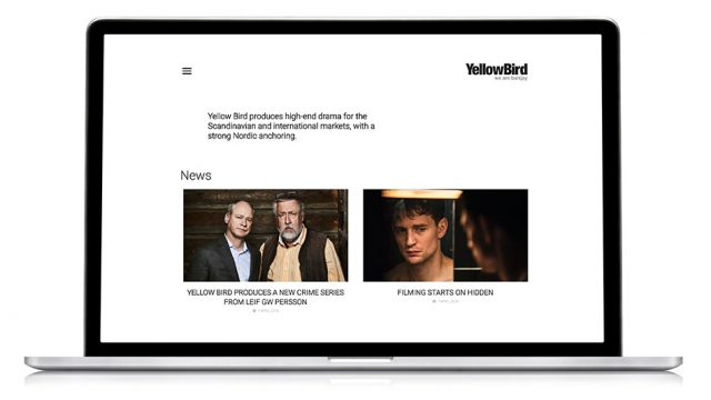 Webbdesign för Yellowbird.se