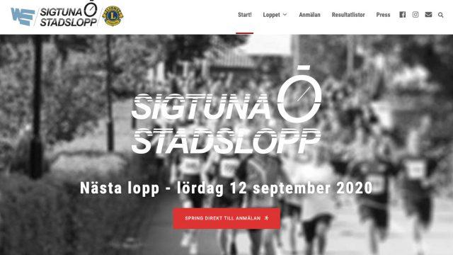 Webbdesign Wordpress Stockholm för Sigtuna Stadslopp